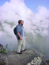 Looking out over Machu Pichu